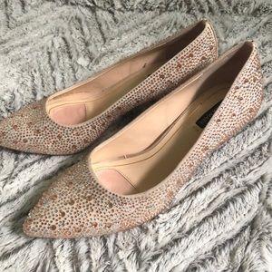"Alex Marie Embellished 1"" heel SZ 6"